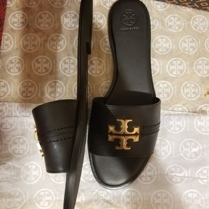 Tory Burch Shoes - Tory Burch Everly Slides Sz 10 Black New NIB